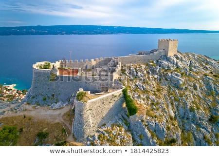 горные утес крепость мнение регион Хорватия Сток-фото © xbrchx