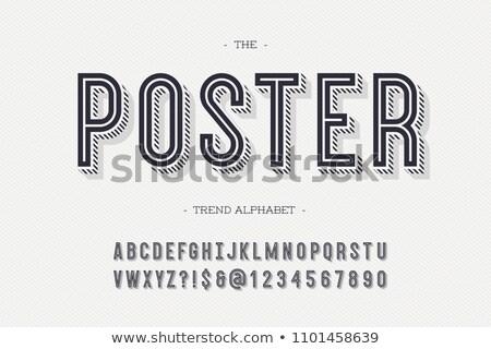 Antique Typeface Stock photo © devon