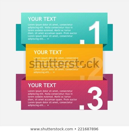Tre origami testo spazio carta Foto d'archivio © SArts