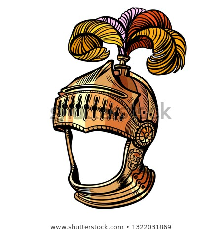 knight helmet with feathers face masquerade Stock photo © studiostoks