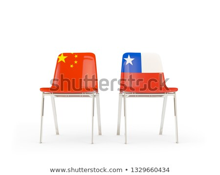 Two chairs with flags of China and chile Stock photo © MikhailMishchenko
