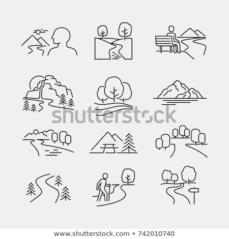 ícones · férias · jornada · verão · símbolos · mar - foto stock © netkov1