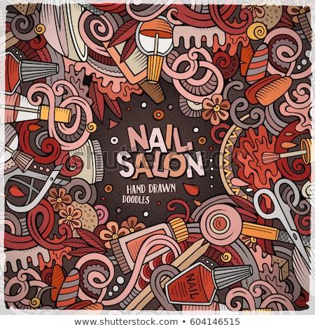 spa salon manicure hand treatment nails vector stock photo © robuart