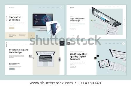 Business strategy landing page template. Stok fotoğraf © RAStudio