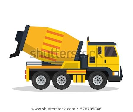 Cement mixer industriële machines geïsoleerd iconen Stockfoto © robuart
