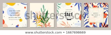 Tropicales été cadre layout oiseaux usine Photo stock © solarseven