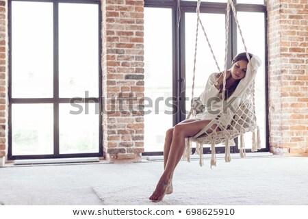 Ragazza swing sedia illustrazione sfondo arte Foto d'archivio © bluering