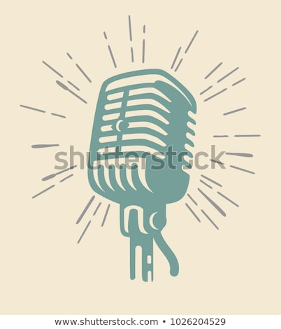 Musicians Singing with Microphone Vector Isolated Stock photo © robuart