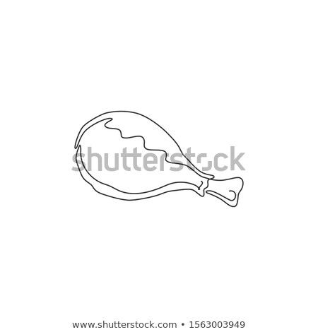 Tavuk ikon beyaz yumurta imzalamak siyah Stok fotoğraf © smoki