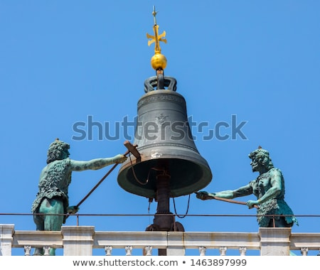 Moors striking the hours at the top of the St Mark's Clocktower  Stock photo © boggy