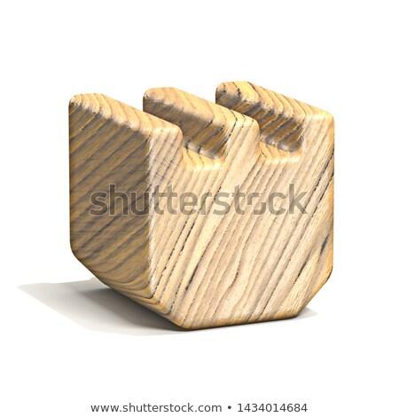 szilárd · fából · készült · kocka · betűtípus · t · betű · 3D - stock fotó © djmilic