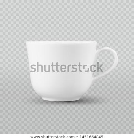 Foto realista branco copo isolado Foto stock © Fosin