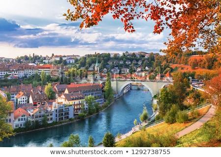 Швейцария старый город город Панорама моста городского Сток-фото © Winner