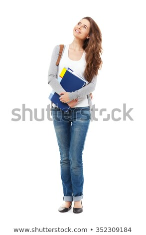 graduation student standing up and smile holding graduation cer stock photo © freedomz