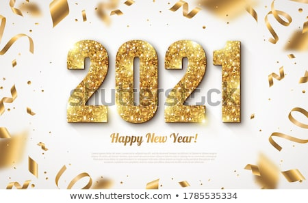 Bright Invite Card Happy New Year Banner Vector Stock photo © pikepicture