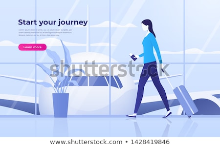 Travelers Arrival, Tourists in Airport Vector Stock photo © robuart