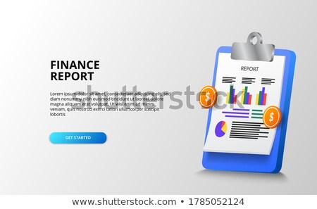 Statystyka dokumentu papieru infografiki Zdjęcia stock © robuart