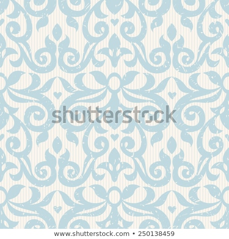 Monochrome Seamless Pattern with Floral Ethnic Motifs Stock photo © lissantee