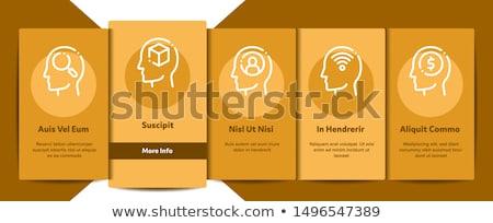 ума Элементы признаков вектора мобильных приложение Сток-фото © pikepicture