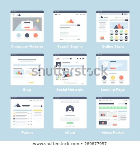 Webpagina sjabloon internet winkel web icons Stockfoto © RAStudio