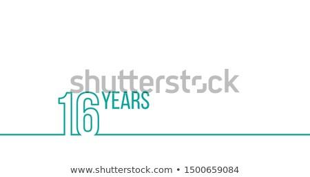 16 rok rocznicy urodziny liniowy Zdjęcia stock © kyryloff