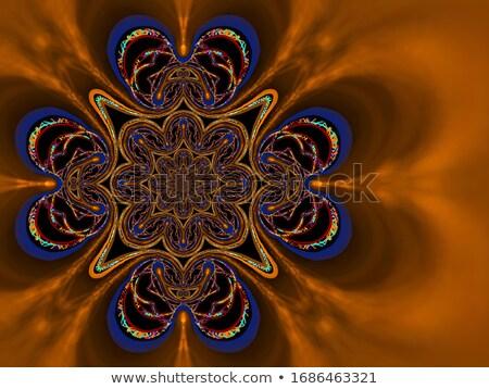 Grens sjabloon oranje illustratie frame yoga Stockfoto © bluering