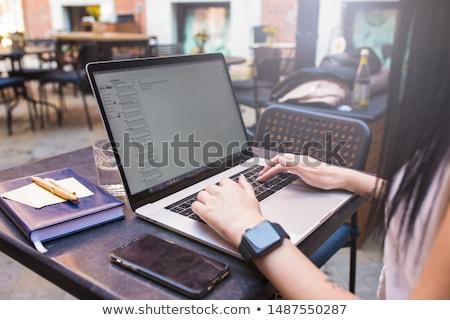 キーボード 電子ブック 書く コンピュータのキーボード 本当の ストックフォト © lichtmeister
