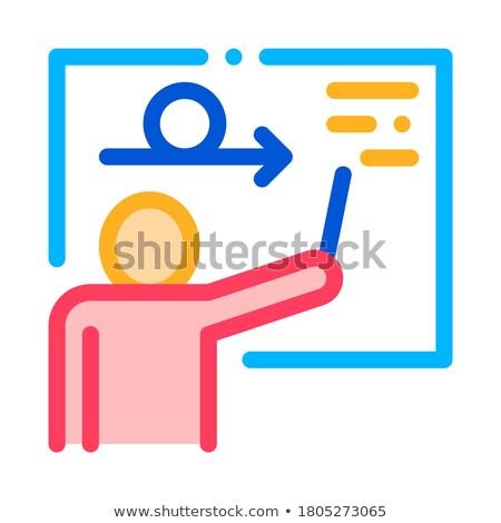 Férfi sziluett iskolatábla agilis felirat vektor Stock fotó © pikepicture