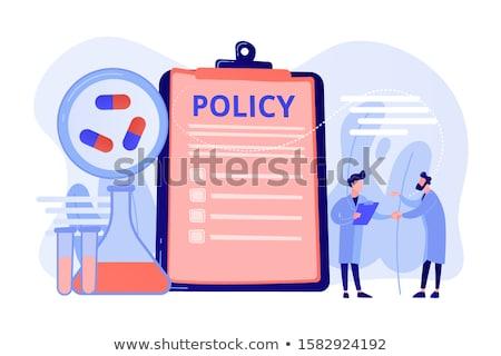 gyógyszeripari · irányvonal · vágólap · pici · emberek · lobbi - stock fotó © rastudio