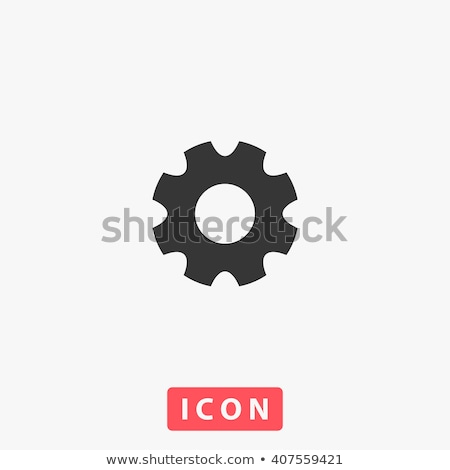 Cog or gear Icon . Simple flat symbol. Perfect Black pictogram illustration on white background. Stock photo © kyryloff