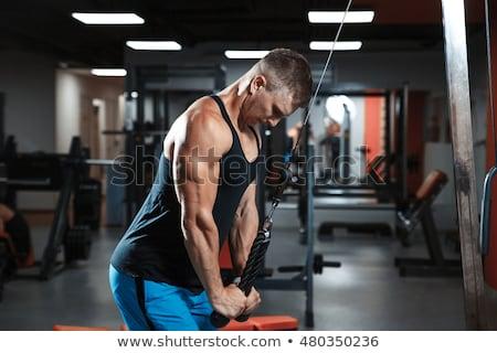 молодым человеком трицепс спортзал осуществлять Сток-фото © Jasminko