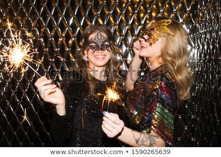 楽しい 女の子 ベニスの マスク ストックフォト © pressmaster