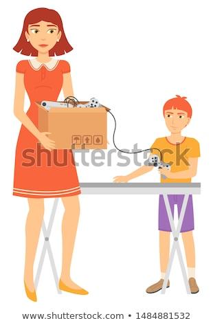 Tweede verkoop tabel bedieningshendel verkopen vector Stockfoto © robuart