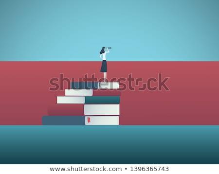 Iş araştırma teknoloji vektör simgeler adam Stok fotoğraf © robuart