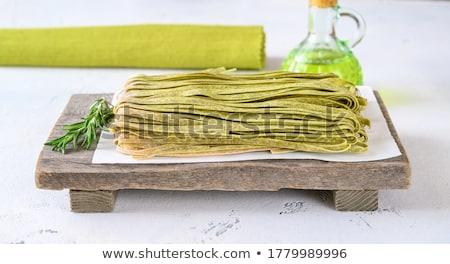 Espinacas frescos romero crudo alimentos vidrio Foto stock © Alex9500