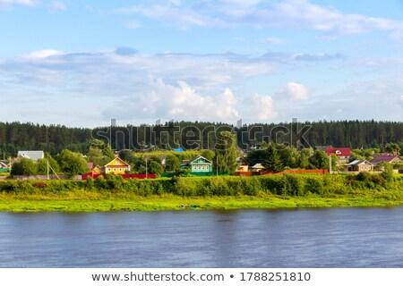 Landscape with Sukhona River, Russia Stock photo © borisb17