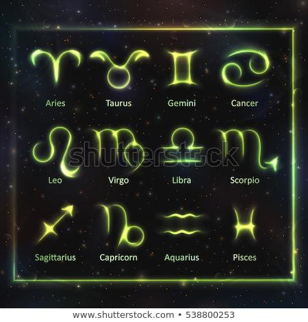 Zodiaco segni abstract blu forma Foto d'archivio © Olena