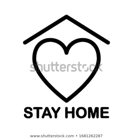 keep calm and stay at home virus novel coronavirus 2019 ncov and home quarantine vector illustrati stock photo © ikopylov