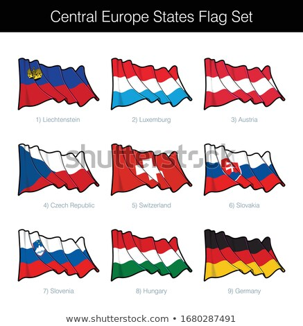 Central Europe States Waving Flag Set Stock photo © nazlisart