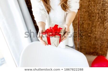 Lövés felismerhetetlen nő ünnepi ruha örvend Stock fotó © vkstudio