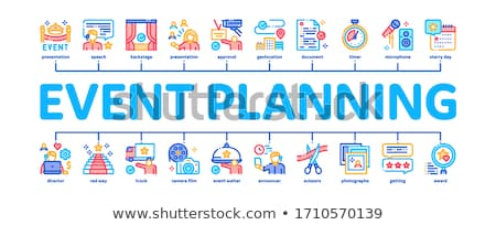 Event Party Planning Minimal Infographic Banner Vector Stock photo © pikepicture