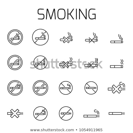 Verbod teken vector dun lijn Stockfoto © smoki