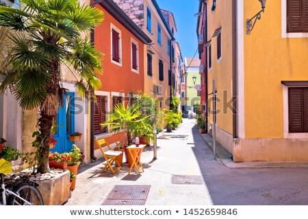 Idyllic colorful mediterranean street of Novigrad Istarski Stock photo © xbrchx
