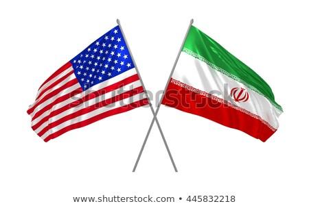 USA Iran vlaggen geïsoleerd witte business Stockfoto © evgeny89