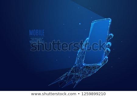 Smartphone tecnologia digitale gadget business tecnologia Foto d'archivio © yupiramos