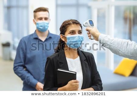 больным работник служба термометра сотрудник бизнеса Сток-фото © AndreyPopov