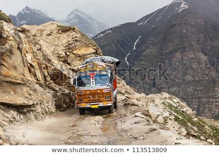 Indian camion strada himalaya autostrada auto Foto d'archivio © dmitry_rukhlenko