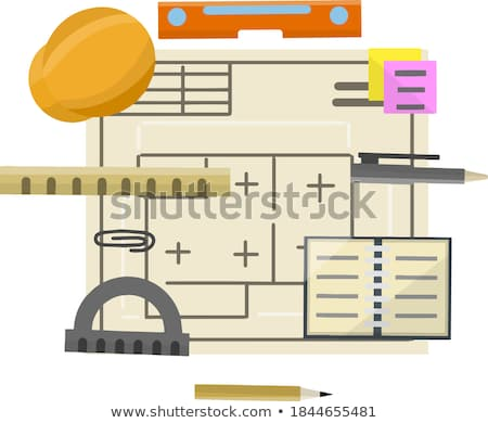 Workplace items tools for project, Architect or Engineer working Stock photo © Freedomz