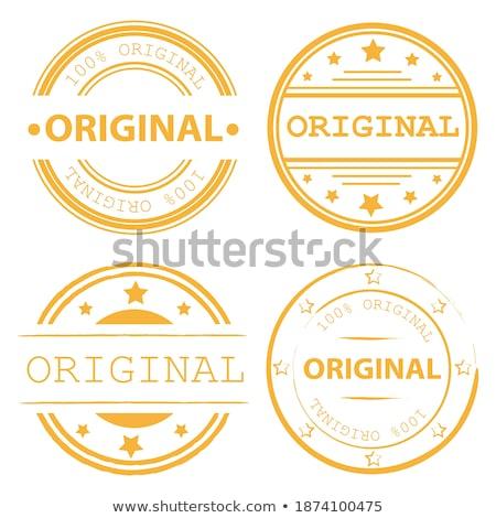 Original borracha selos conjunto quatro Foto stock © SArts