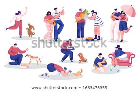 犬の訓練 男 訓練 犬 芸術 動物 ストックフォト © meshaq2000